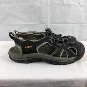 KEEN Mens 8 Womens 9 Black Waterproof Sandals